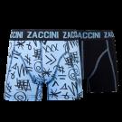 Zaccini jongens boxershorts 2-pack, Blue Marker.