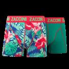 Zaccini jongens boxershorts 2-pack, Flower Green.