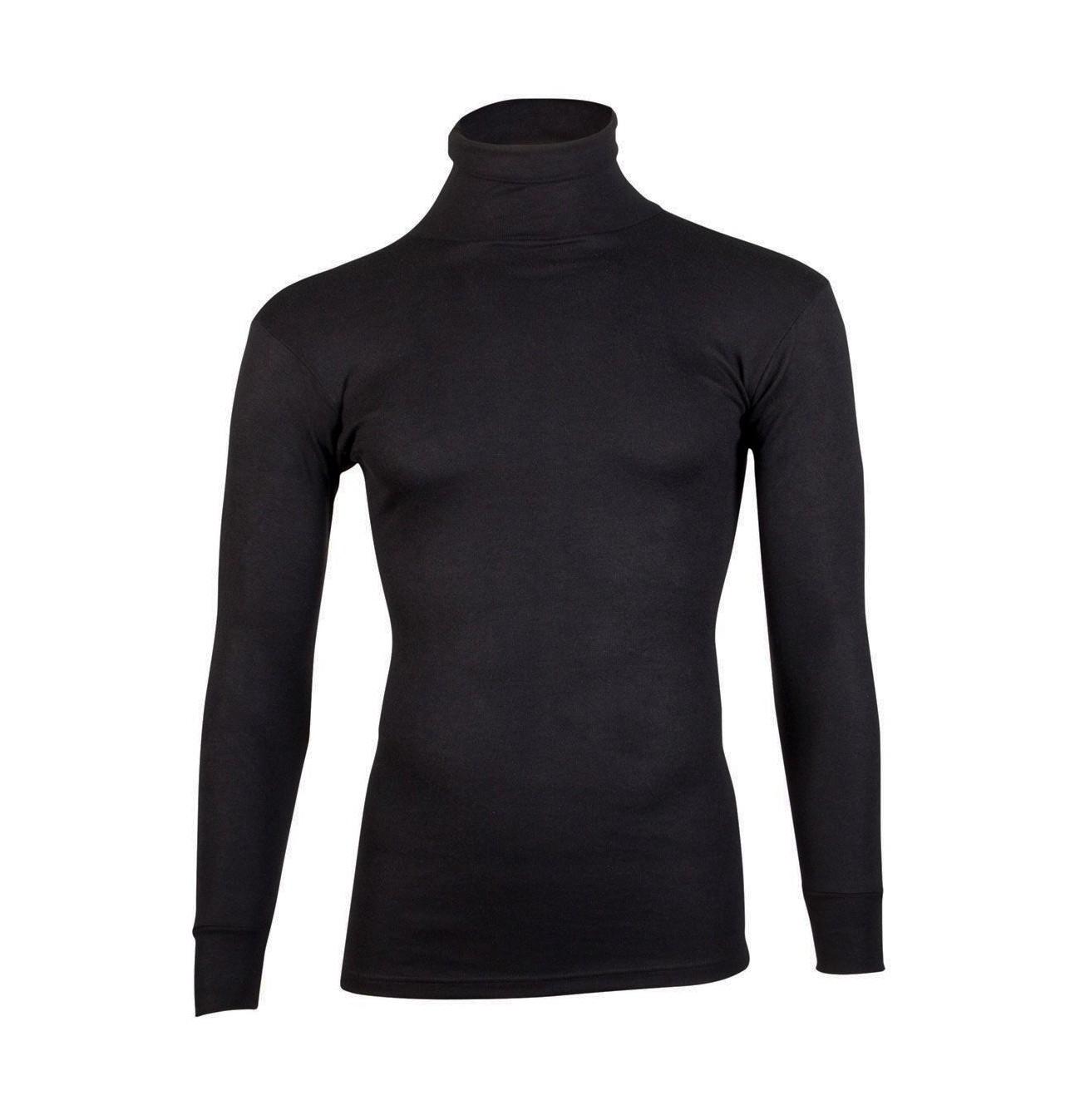 Beeren Thermo shirt lange mouw met col zwart