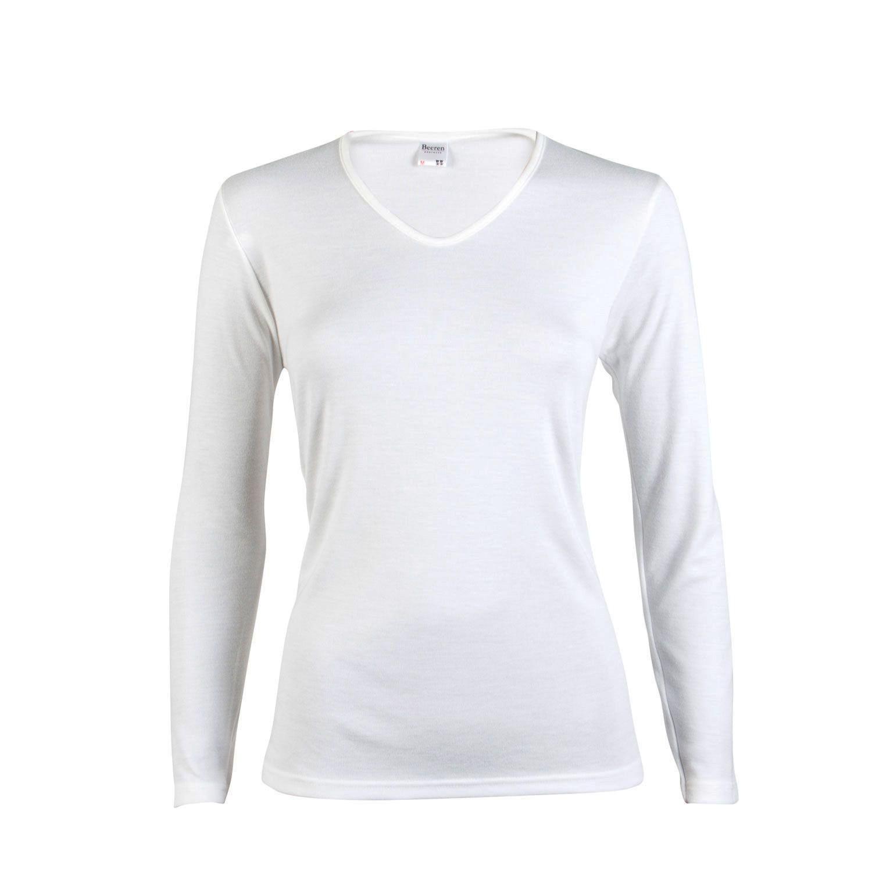 Beeren dames Thermo shirt lange mouw Wolwit
