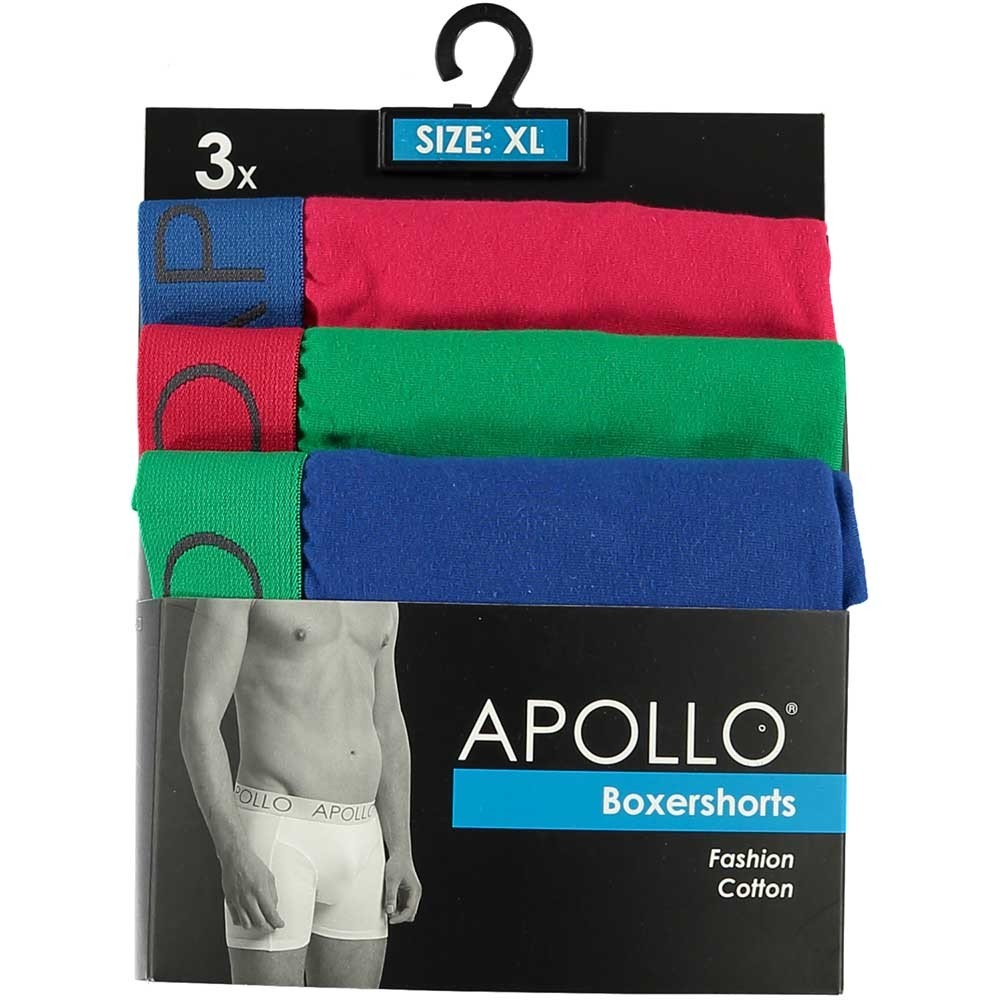 Apollo 3-pack heren boxershort Collor