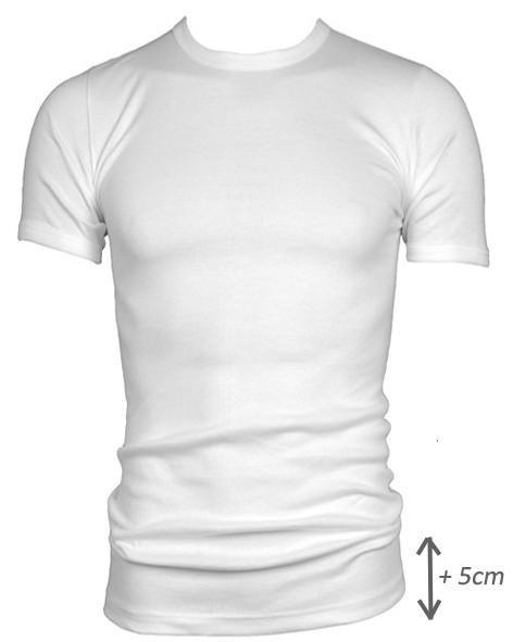 Beeren t-shirt korte mouw M3000 wit, EXTRA lang.