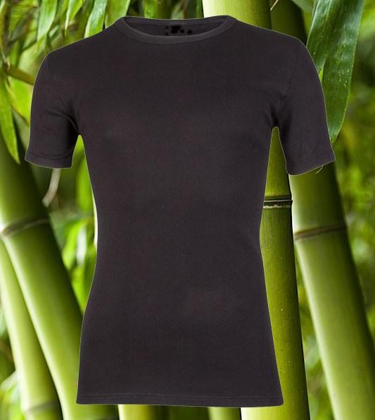 Boru Bamboo T-shirt Zwart.