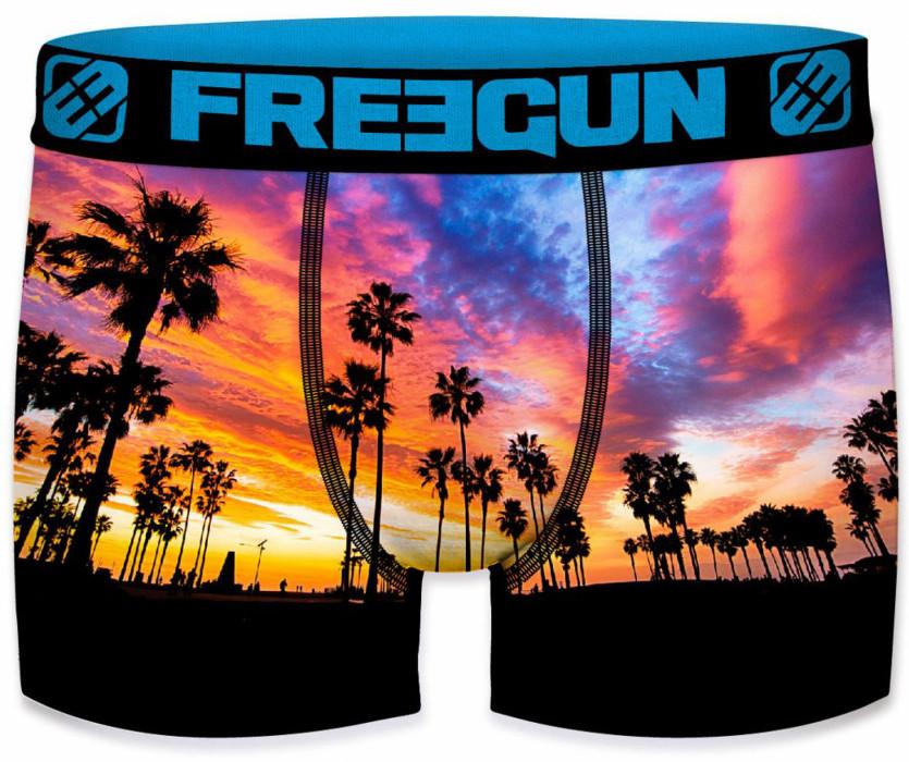 Freegun Heren boxershort. Palm Black