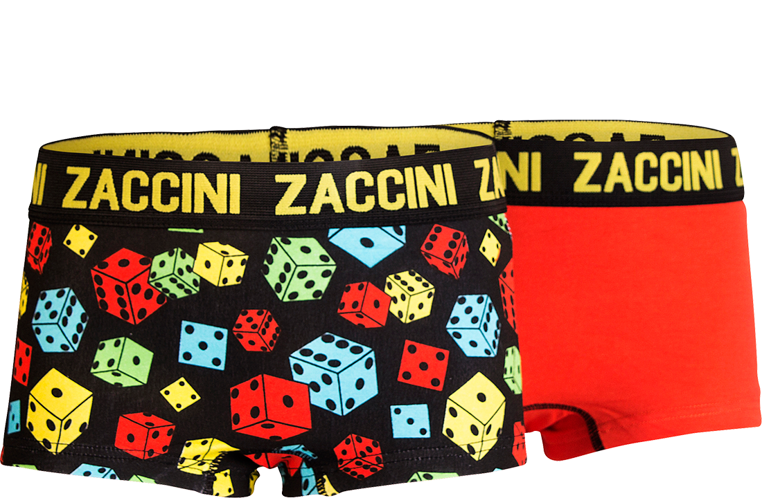 Zaccini meisjes shorts 2-pack, Dices.
