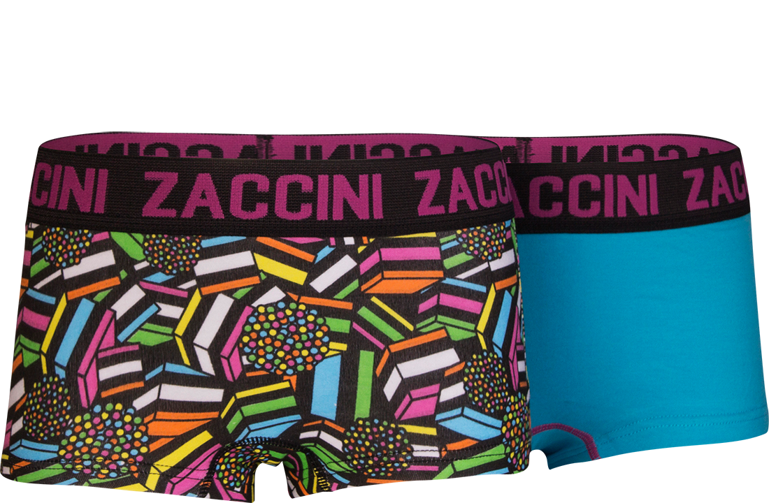 Zaccini meisjes shorts 2-pack, Sweet Candy.