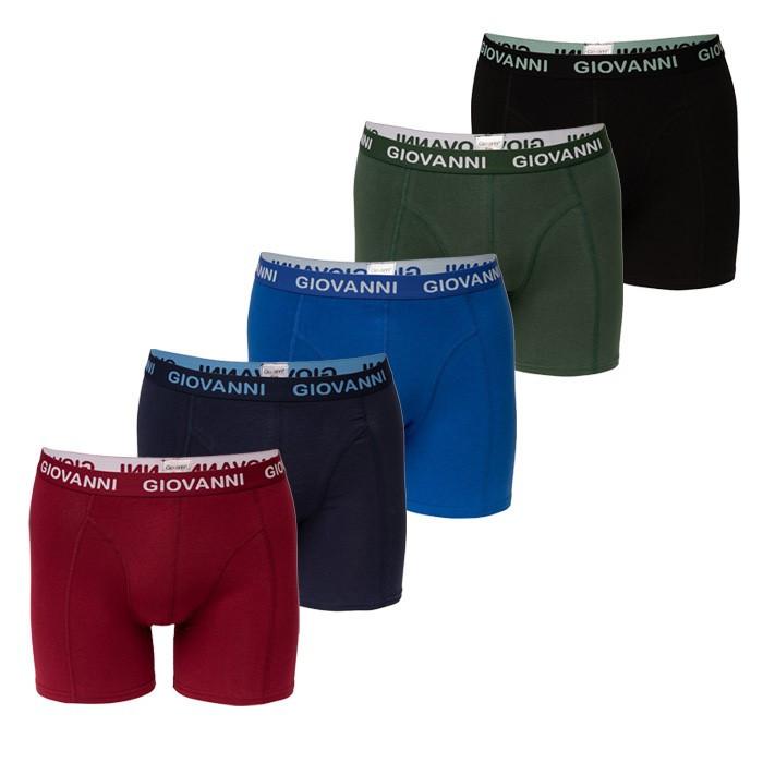 Giftbox! 5 Giovanni heren boxershorts, Dark