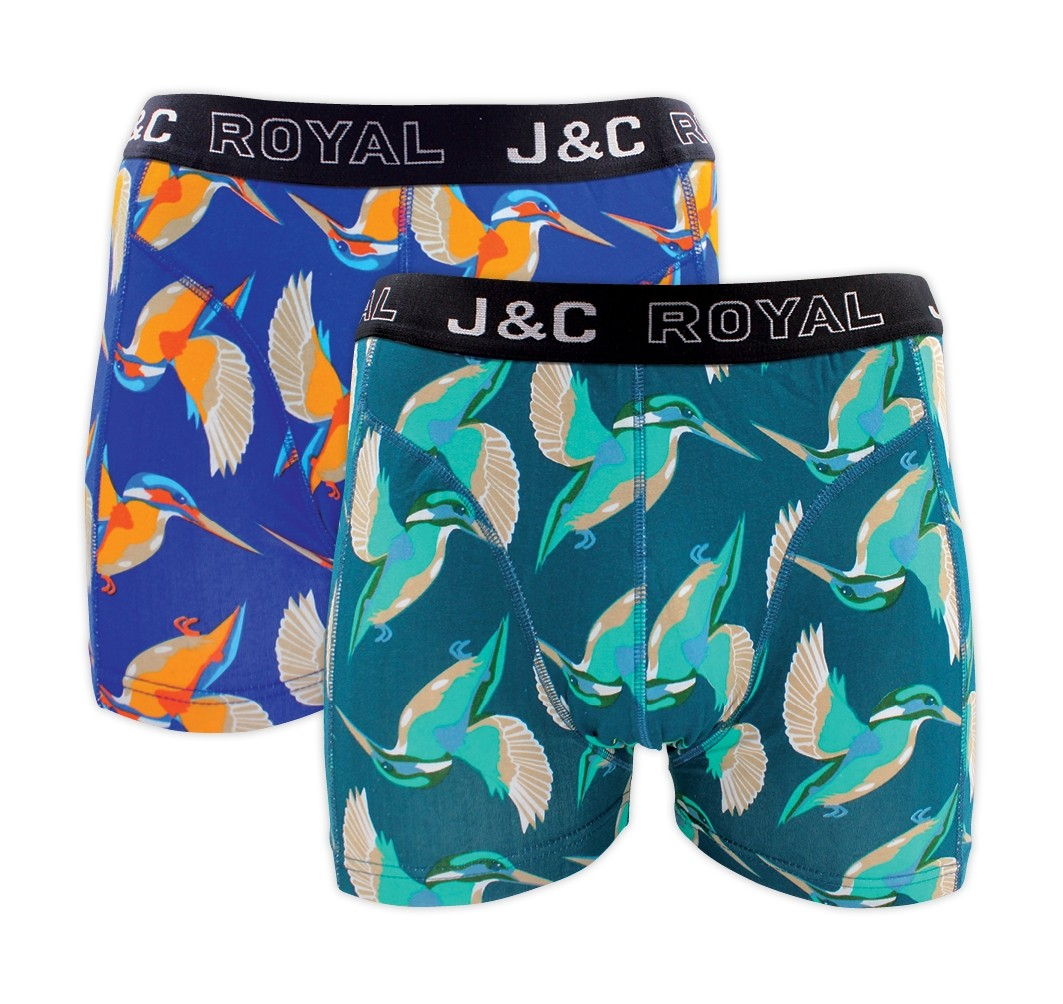 "Heren boxershort J&C Royal 2-pack ""Halcyon"" 243"