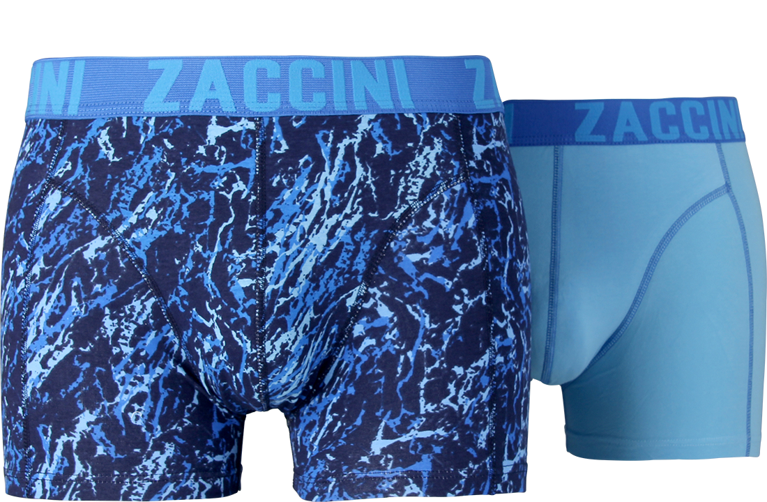Zaccini heren boxershorts 2-pack, Mineral Blue