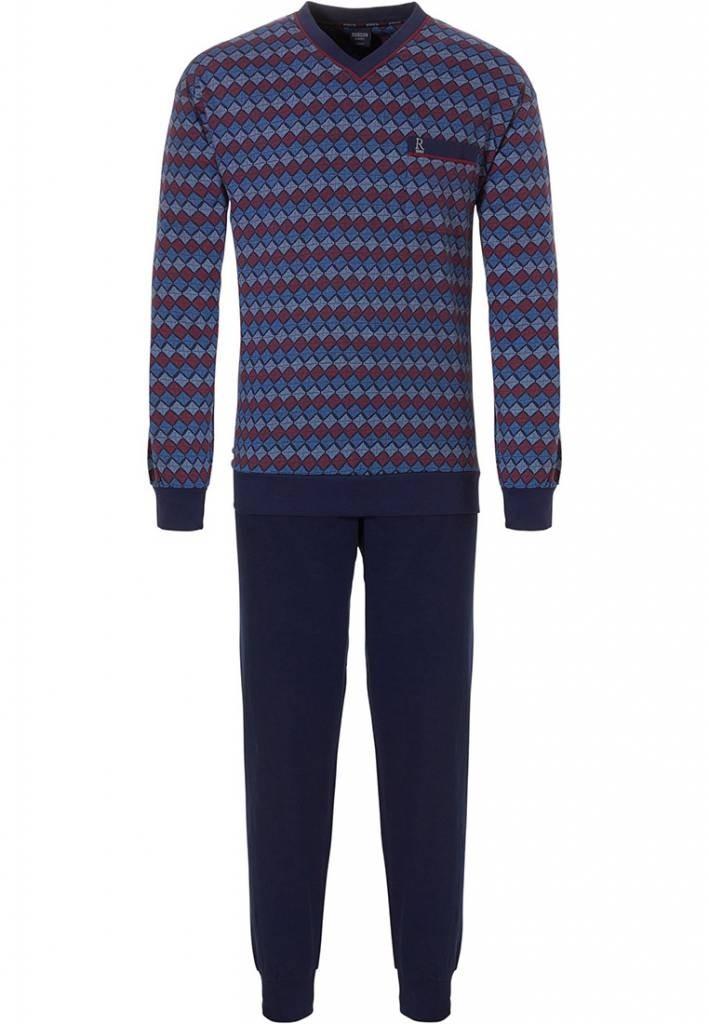 Robson heren pyjama 704 Navy