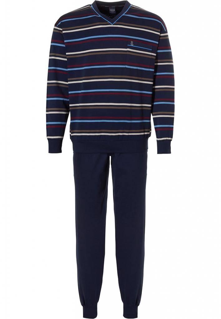 Robson heren pyjama 710 Navy