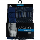 Apollo 3-pack heren boxershort M-Print