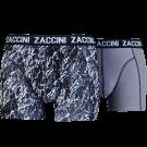 Zaccini heren boxershorts 2-pack, Mineral Grey