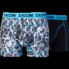 Zaccini heren boxershorts 2-pack, Dots Black
