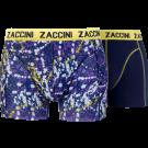 Zaccini heren boxershorts 2-pack, Dots Purple