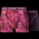 Zaccini heren boxershorts 2-pack, Flower Red