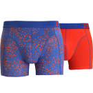 Zaccini heren boxershorts 2-pack, Summer Spray Red