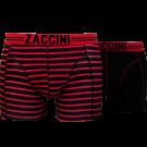 Zaccini heren boxershorts 2-pack, Stripe Red