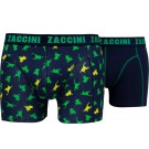 Zaccini heren boxershorts 2-pack, Frogs
