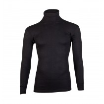 Beeren Thermo shirt met col zwart