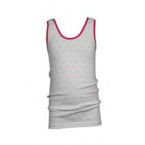 Beeren meisjes hemdje Stipje wit-roze