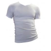 Beeren t-shirt korte mouw V-hals M3000 wit