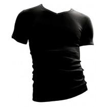 Beeren t-shirt korte mouw V-hals M3000 zwart