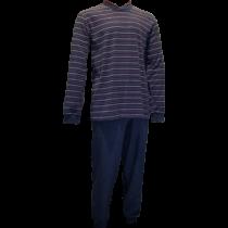 Gentlemen heren pyjama 4151 V-hals, Badstof.