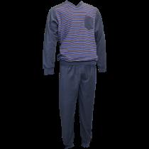 Warme Gentlemen heren pyjama 4164 V-hals, Badstof.
