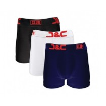 J&C Club heren boxers 3-pack print 4485 BWZ