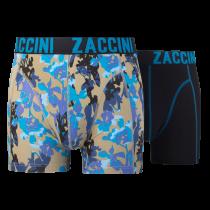 Zaccini jongens boxershorts 2-pack, Painted Flowers.