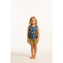 "Eskimo meisjes shortama ""Cheetah"" blue"