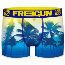 Freegun Heren boxershort. Palm Blue