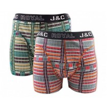 Heren boxershort J&C Royal 2-pack Blocks 240