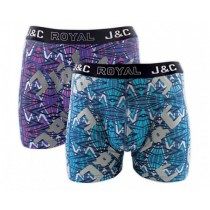 Heren boxershort J&C Royal 2-pack Grafity 241
