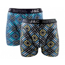 Heren boxershort J&C Royal 2-pack Disco 242