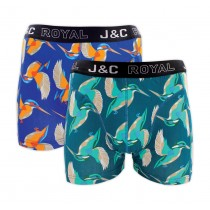 "Heren boxershort J&C Royal 2-pack ""Halcyon"" 243"
