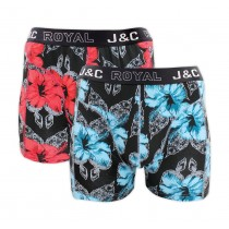 "Heren boxershort J&C Royal 2-pack ""Rosemallow"" 244"