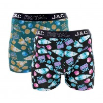 "Heren boxershort J&C Royal 2-pack ""Miami"" 245"