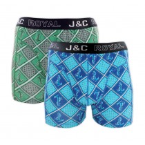 Heren boxershort J&C Royal 2-pack Anchor 246