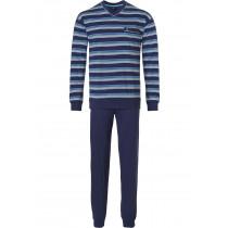 Robson heren pyjama 704 V-navy