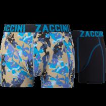Zaccini heren boxershorts 2-pack, Painted Flowers