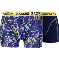 Zaccini heren boxershorts 2-pack, Dots Purple