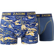 Zaccini heren boxershorts 2-pack, Planes Blue