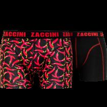 Zaccini heren boxershorts 2-pack, Pepper