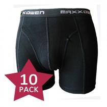 Super prijs! 10-PACK Maxx Owen heren boxershort Zwart