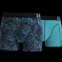 Zaccini heren boxershorts 2-pack, Summer Spray Blue