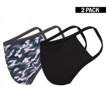 2-pack Beeren Heren Mondkapje Zwart/Camouflage