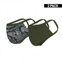 2-pack Beeren Dames Mondkapje Groen/snake