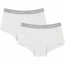 Vingino Meisjes Shorts 2-pack, Wit.